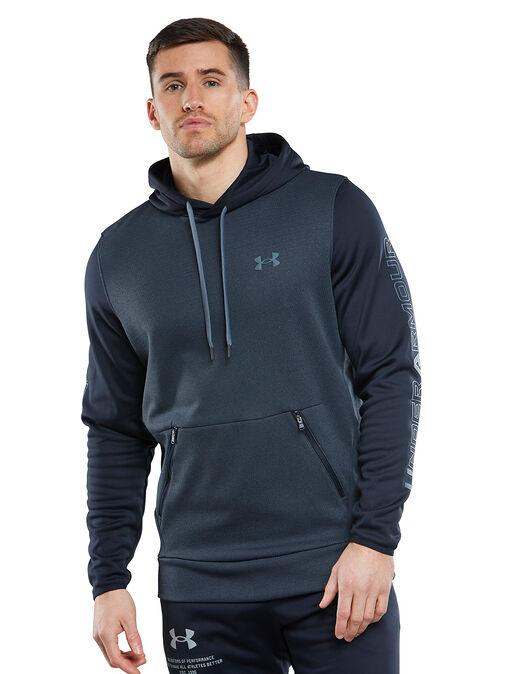 Mens Armour Fleece Textured Hoodie