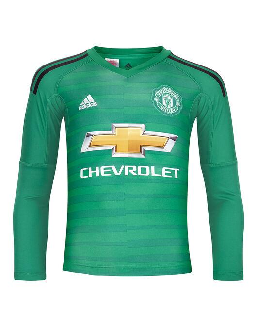 Kids Man United 18 19 Goalkeeper Home Shirt Adidas Life Style Sports