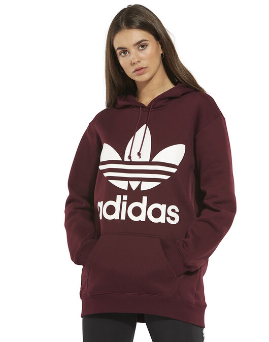 Women S Red Adidas Originals Hoodie Life Style Sports