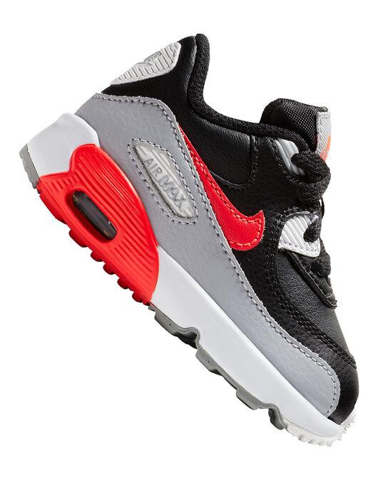 11d6554733b Infant Boy s Black Nike Air Max 90 Leather