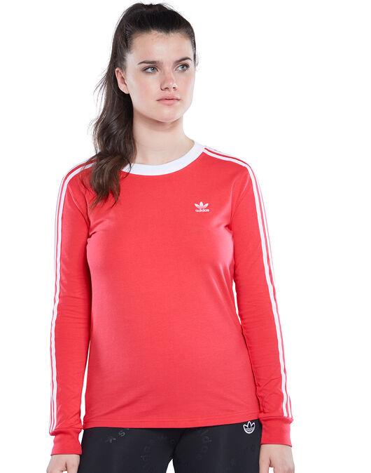 Womens 3-Stripes Long Sleeve T-Shirt