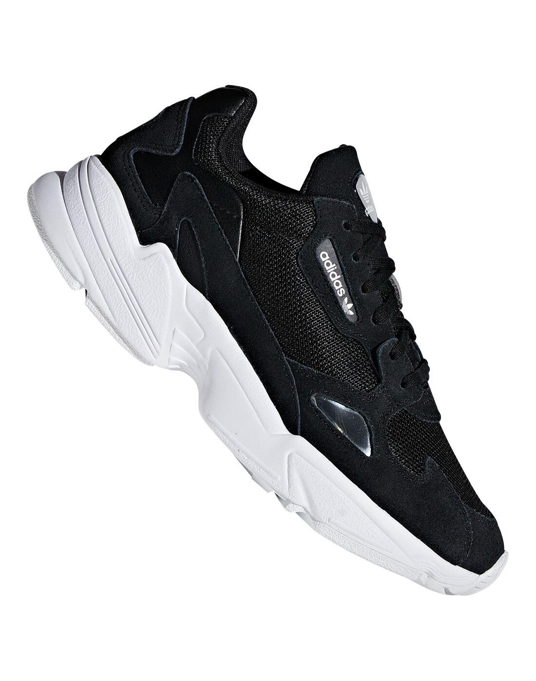 Black adidas Originals Falcon Trainers