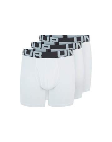 Mens Charged Cotton 6 Inch 3-Pack Boxer