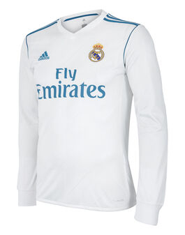 Mens Real Madrid Home 17/18 Jersey LS