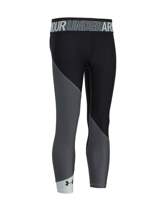 Girl's Black Under Armour Capris   Life Style Sports