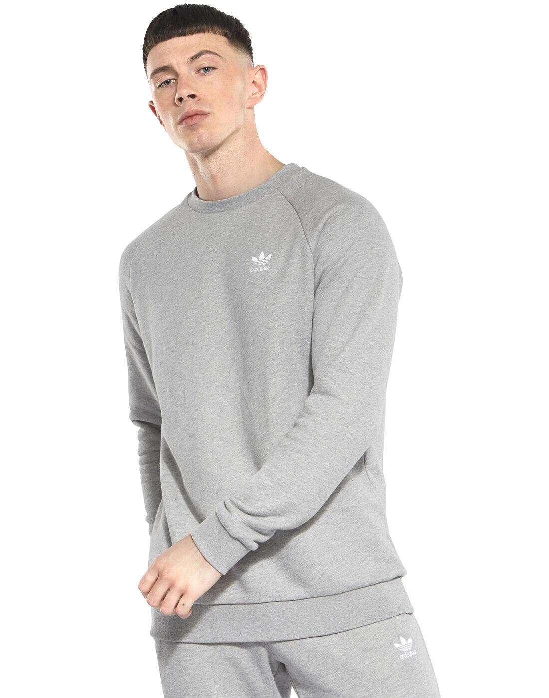 Men/'s Authentic  adidas Essential Sweatshirt Sizes Large-XL
