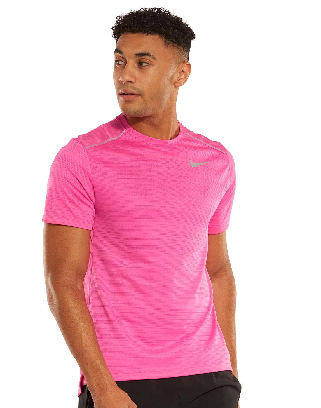 nike miler t shirt pink