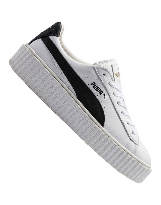 Womens Cracked Creeper Leather