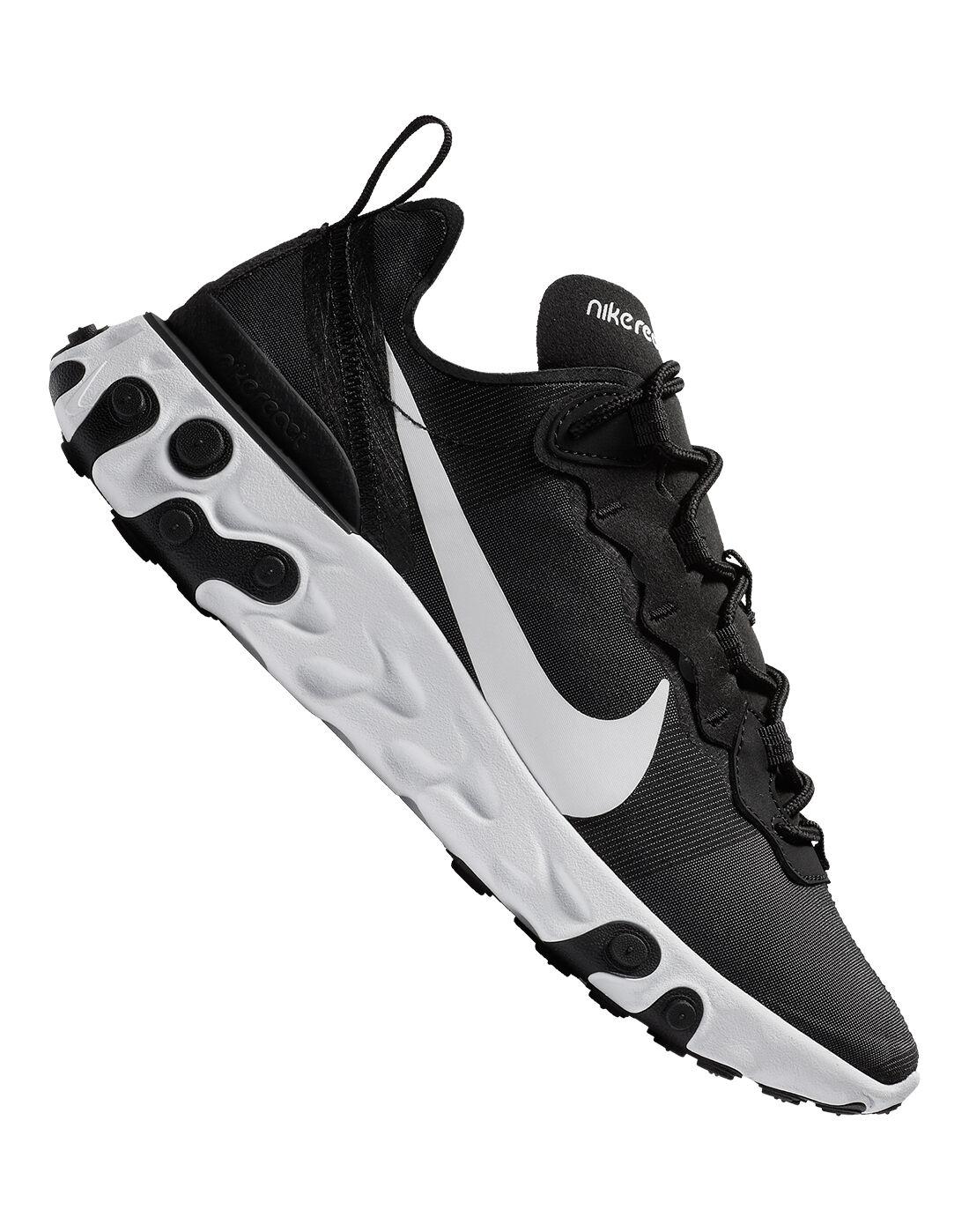 Women's Black Nike React Element 55