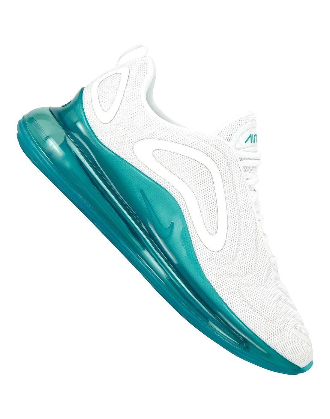 Men's White \u0026 Blue Nike Air Max 720
