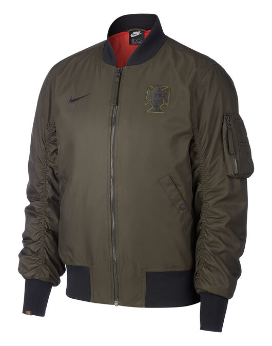 Adult Portugal Euro 2020 Woven Bomber Jacket