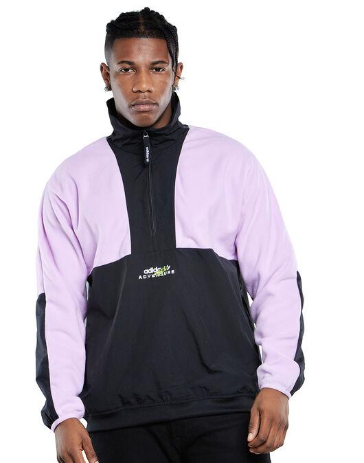 Mens Blocked Half Zip Fleece Top