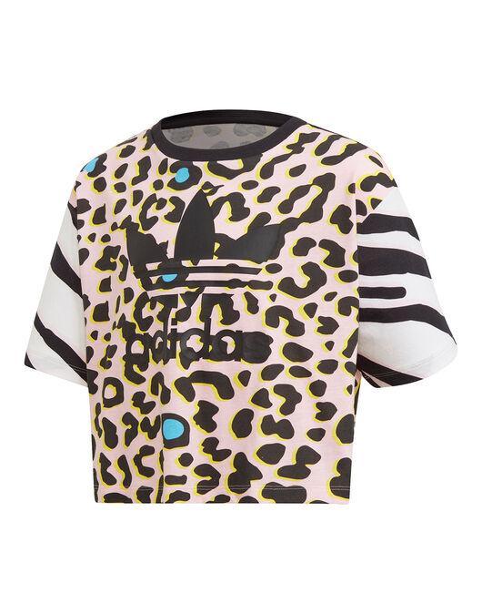 Older Girls Leopard Crop T-Shirt