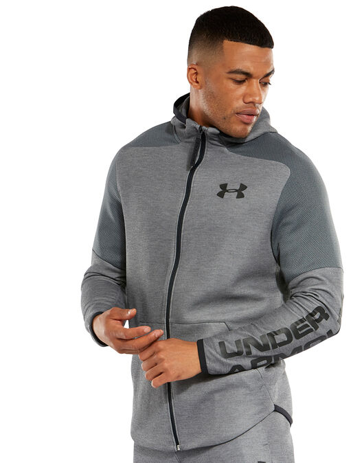 Solicitud Regularidad Guante  Men's Grey Under Armour Light Full Zip Hoodie | Life Style Sports