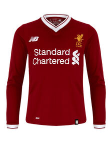 Kids Liverpool 17/18 Home Jersey LS