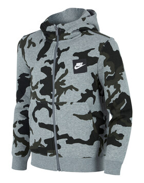 Older Boys Camo Full Zip Hoody