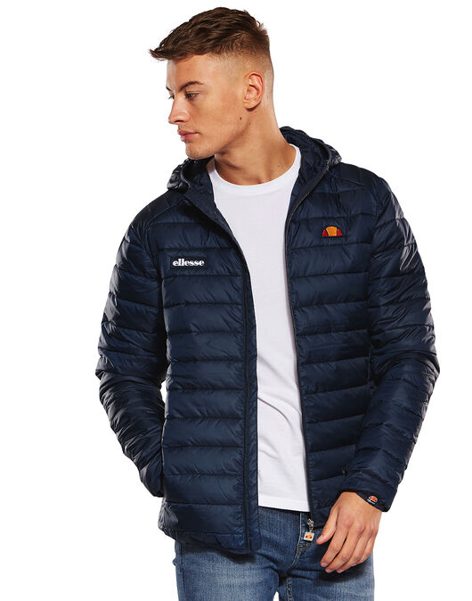 82ba1387 Men's Navy Ellesse Padded Jacket   Life Style Sports