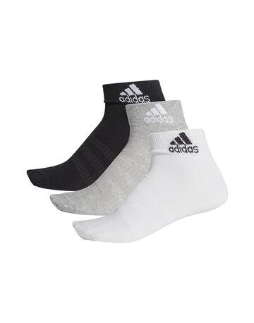 Mens 3 Pack Light Ankle Socks