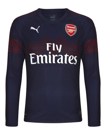 fb497fa43 Adult Arsenal Away 18 19 LS Jersey ...