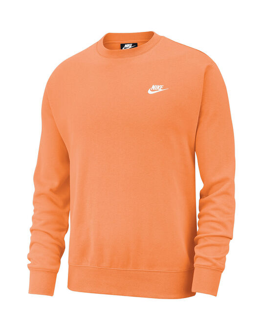 Oportuno Sin aliento Labor  Nike Mens Club Crew Neck Sweatshirt - Orange   Life Style Sports IE