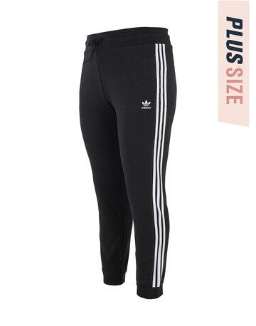 Womens Fleece 3 Stripe Plus Pant