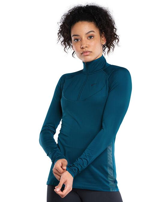 Womens Pro Warm Half Zip Top
