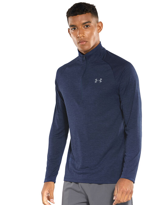 32220252ff Men's Navy Under Armour 1/2 Zip Top | Life Style Sports
