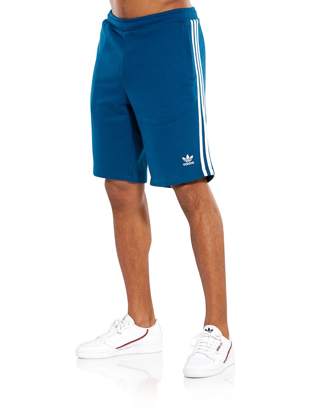 Navy adidas Originals 3-Stripe Shorts