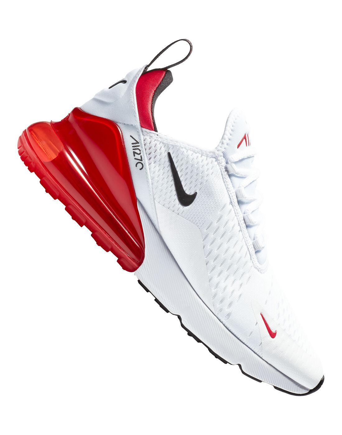 Men's White \u0026 Red Nike Air Max 270
