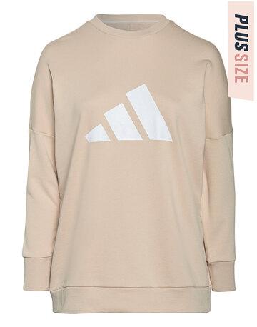 Womens 3 Bar Crewneck Sweatshirt