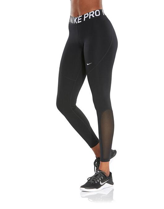 bde97333013e00 Women's Black Nike Pro Tights | Life Style Sports
