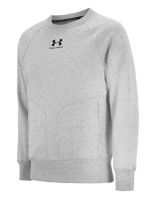 Mens Speckled Fleece Crew Neck Sweatshirt