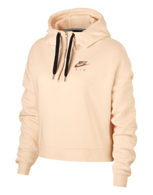 4e53ecb0e9c1 Women s Pastel Pink Nike Air Half Zip Hoodie