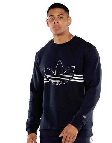 Mens Outline Crew Sweatshirt