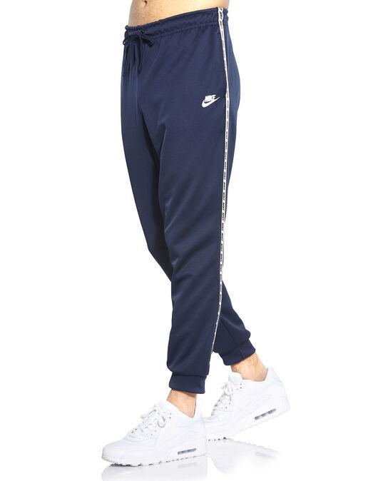 3746e4360 Men's Navy Nike Logo Tape Track Pants   Life Style Sports
