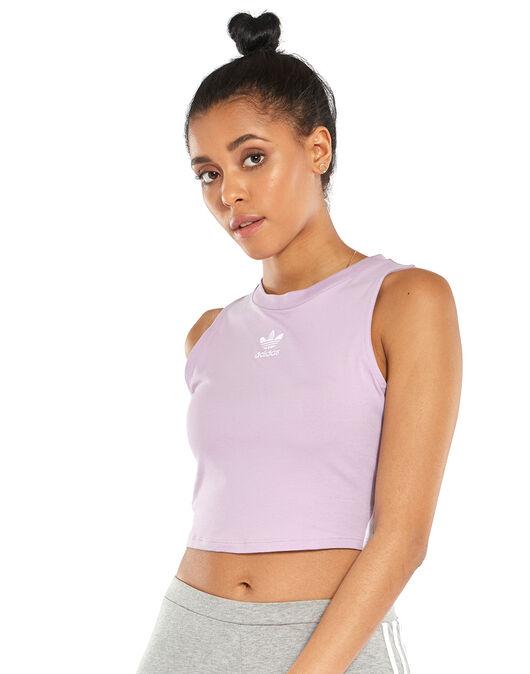 Pionero Excursión Fotoeléctrico  Women's Purple adidas Originals Cropped Tank Top | Life Style Sports