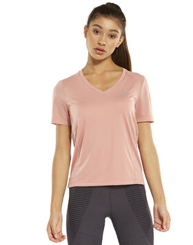 Womens Miler V Neck T-Shirt