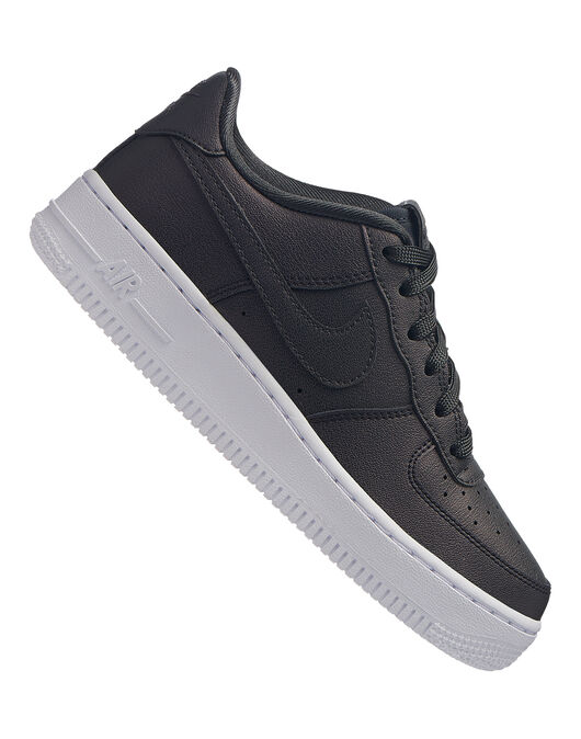 3722c315a8 Boy's Black Nike Air Force 1 Trainers | Life Style Sports