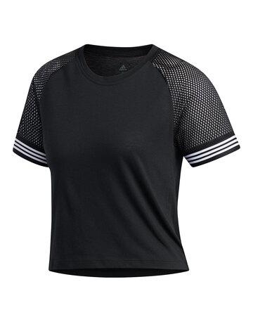 Womens 3 Stripe Ringer T-Shirt
