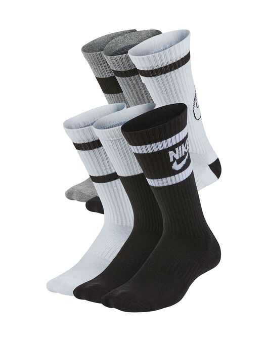 Older Kids Everyday Cushion 6 Pack Crew Socks