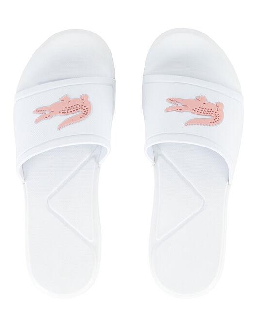 d6efb62e9 Girl s White   Pink Lacoste Slides