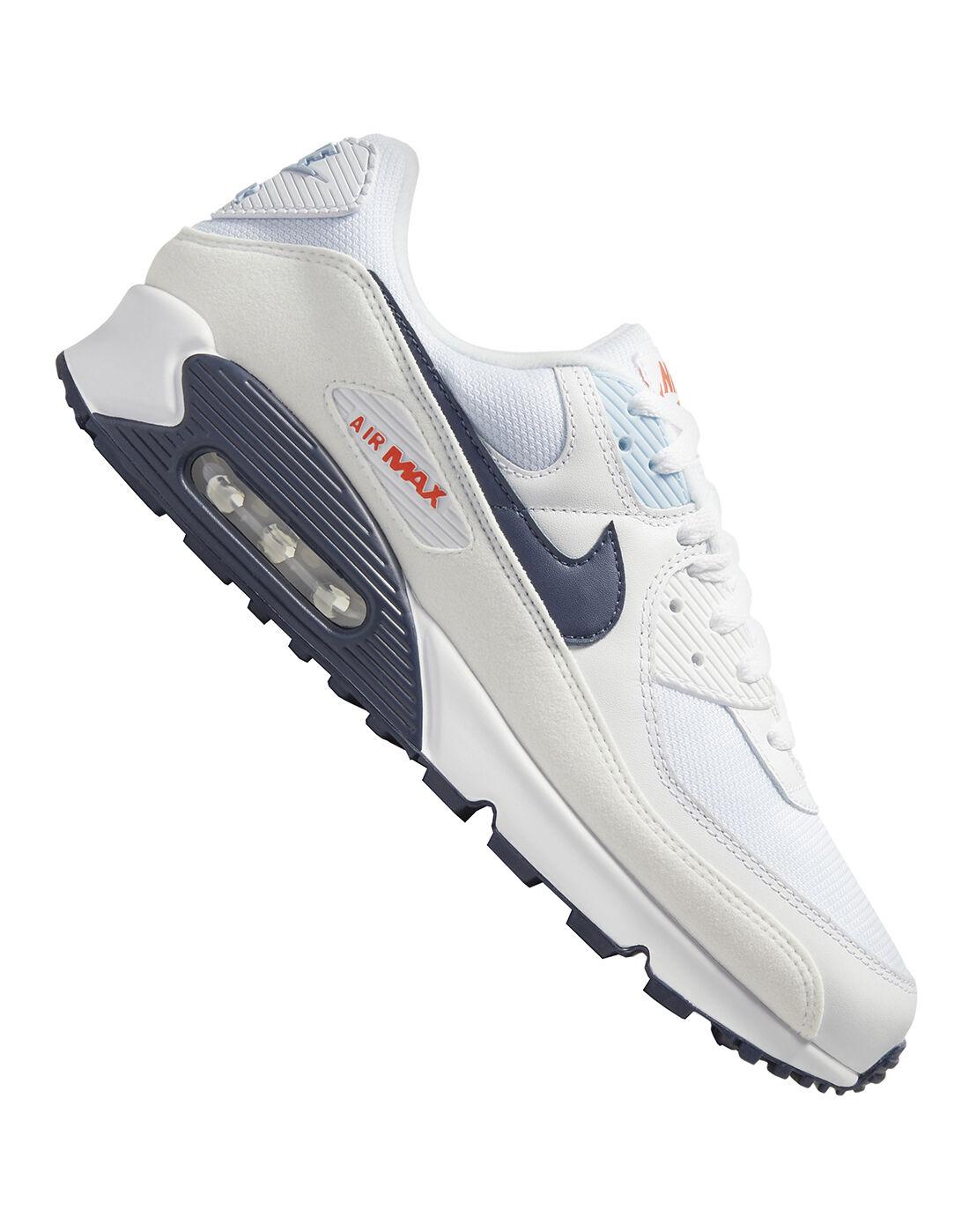 Nike Mens Air Max 90 - White   yeezy season 7 mesh mule boots for ...