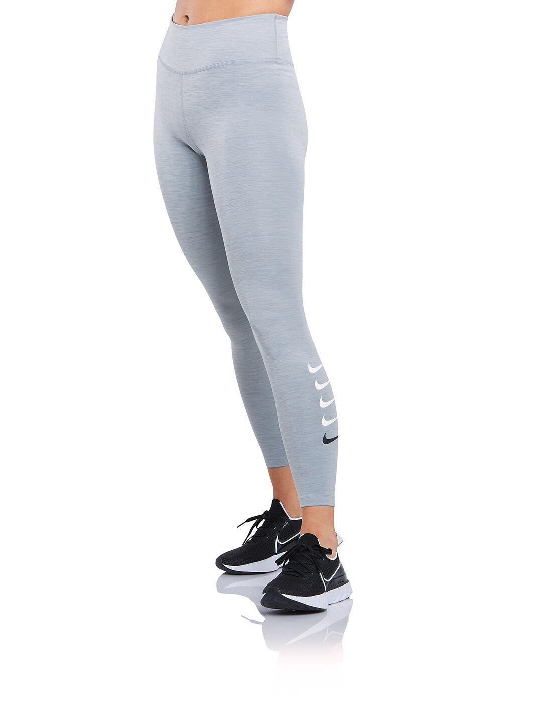 Nike Womens Swoosh Run Leggings - Grey