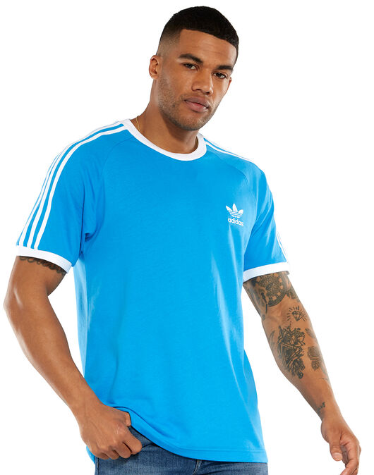 13ef422260954 Men's Blue adidas Originals 3-Stripe T-Shirt   Life Style Sports