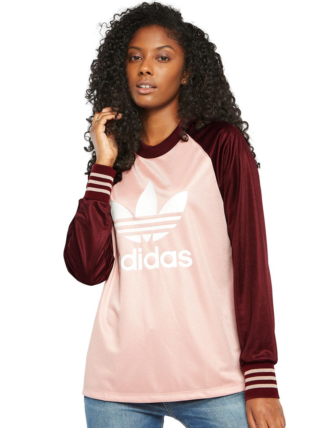 adidas Girls Long Sleeve Hooded Tee T-Shirt