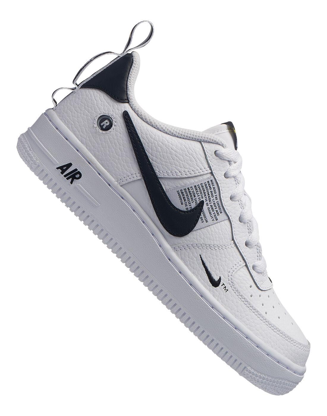 Boy's White \u0026 Black Nike Air Force 1