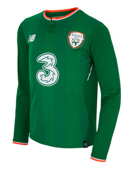 Kids Ireland Home Jersey LS