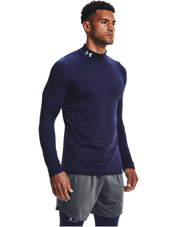 Mens ColdGear Armour Fitted Mock Top
