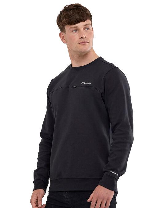 Mens Lodge Embossed Crew Neck Sweatshirt