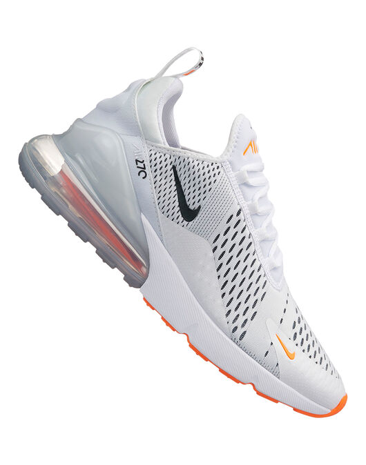 half off 5d532 472fd Men's Nike Air Max 270 | White & Orange | Life Style Sports